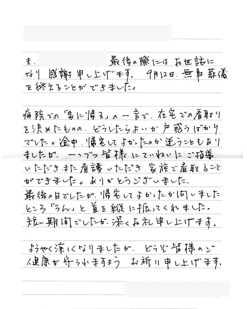 の 手紙 書き出し お礼